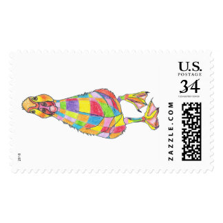 Rainbowduck mail stamp