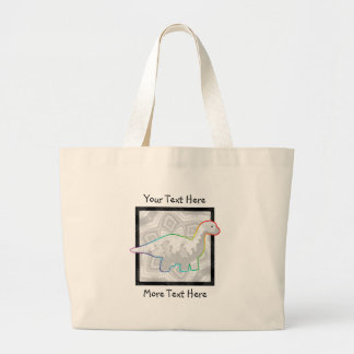 Rainbowed White Dino Tote