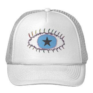 rainboweyestar trucker hat