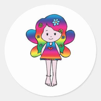 RainbowFairy Round Sticker