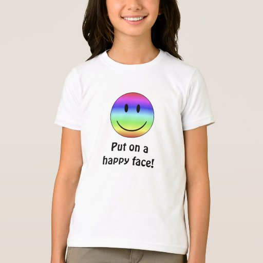 rainbowhappyface, Put on a happy face! T-Shirt