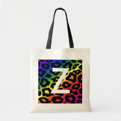 RainbowLeopard Print Bag