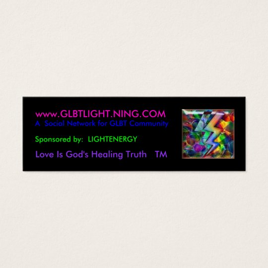 rainbowlight, www.GLBTLIGHT.NING.COM, A  Social... Mini Business Card