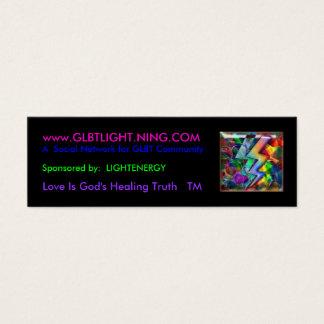 rainbowlight, www.GLBTLIGHT.NING.COM, un social… Tarjetas De Visita Mini