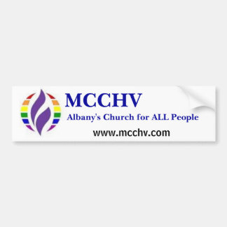 rainbowMCCLogo, Albany's Church for ALL People,... Bumper Sticker