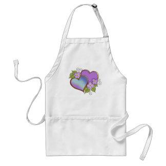 Rainbows-006 Purple Aqua Navy Adult Apron