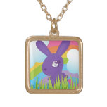 Rainbows and Bunnies Personalized Necklace