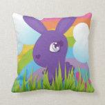 Rainbows and Bunnies Throw Pillows