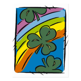 Rainbows and Clovers Postcard