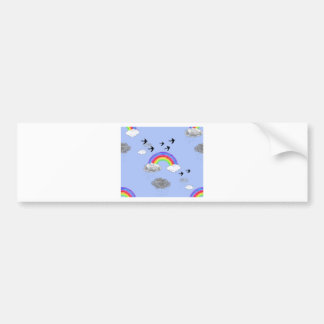 rainbows and rainclouds bumper sticker