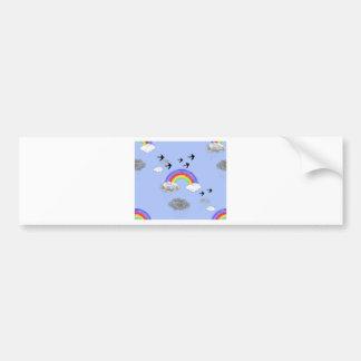 rainbows and rainclouds bumper sticker