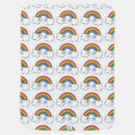Rainbows and Sleeping Moon Baby Blanket