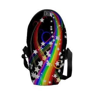 Rainbows and Stars Mini Messenger Bag