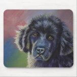Rainbows and Sunshine - Newfoundland Dog Art Mouse Pad