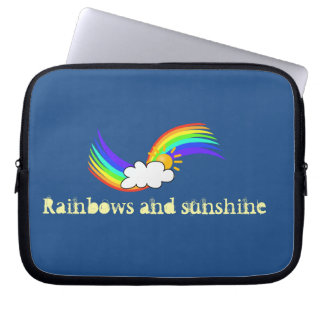rainbows and sunshine sleeve laptop computer sleeves