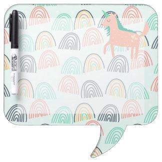Rainbows and Unicorns Dry Erase Board