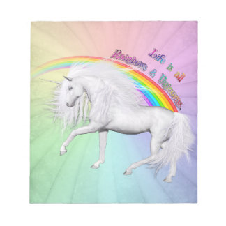 Rainbows and Unicorns Memo Note Pads