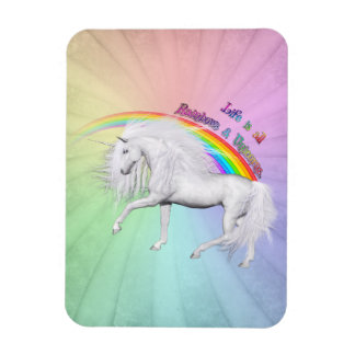 Rainbows and Unicorns Rectangular Photo Magnet