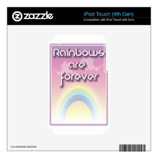 Rainbows Are Forever iPod Touch 4G Skin