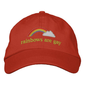 rainbows are gay embroidered baseball hat