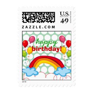 Rainbows Balloons Kids Fun Birthday Stamps Stamps