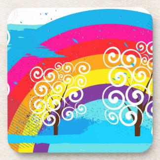 Rainbows Beverage Coaster