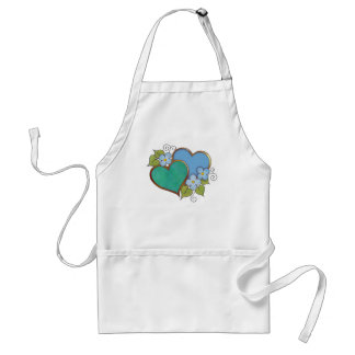Rainbows Blue and green. Adult Apron