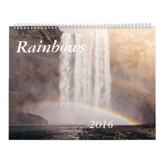 Rainbows Calendar two page customizable