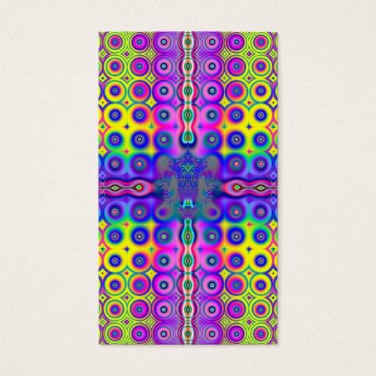 Rainbows Circling Around Fractal Business Card