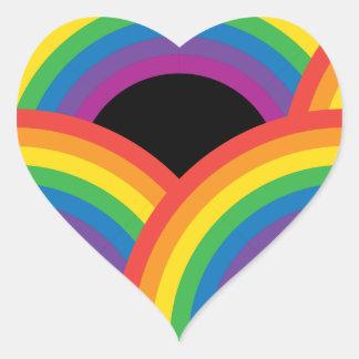 Rainbows Dark Heart Sticker