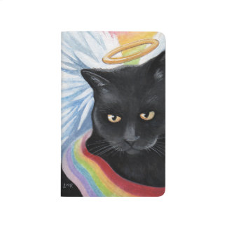 Rainbow's End Angel Cat Painting Journal