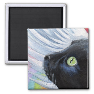 Rainbow's End - Winged Angel Cat Magnet