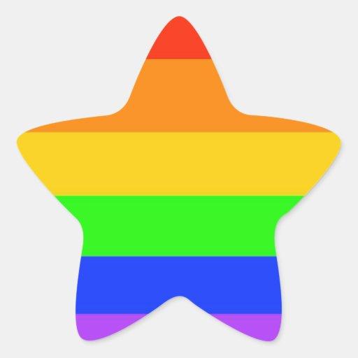 Rainbows Everywhere! Star Sticker