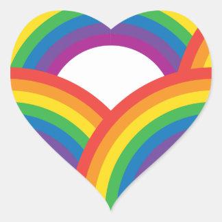 Rainbows Heart Sticker