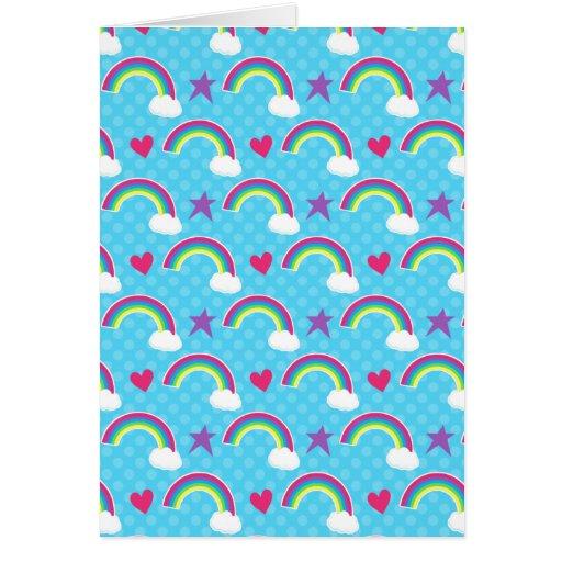 Rainbows, Hearts & Stars Greeting Cards