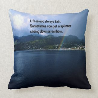 Rainbows in life throw pillow