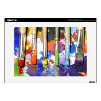 Rainbows In Progress Paint Brush Photography Laptop Decals