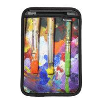 Rainbows In Progress Paint Brush Photography Sleeve For iPad Mini