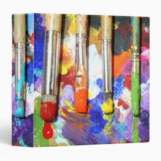 Rainbows In Progress Paintbrush Photography 3 Ring Binder