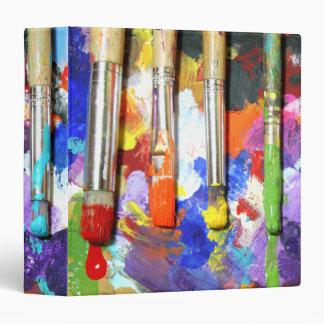 Rainbows In Progress Paintbrush Photography 3 Ring Binder