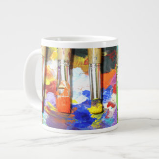 Rainbows In Progress 20 Oz Large Ceramic Coffee Mug