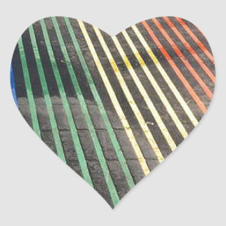 Rainbows in the Streets Heart Sticker