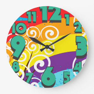 Rainbows Large Clock