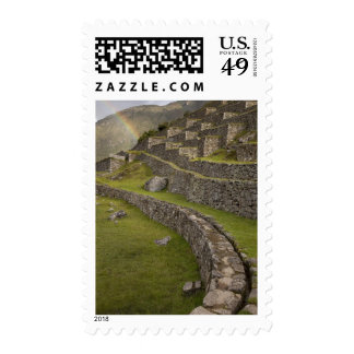 Rainbows over the agricultural terraces, Machu Postage Stamps