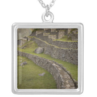 Rainbows over the agricultural terraces, Machu Silver Plated Necklace