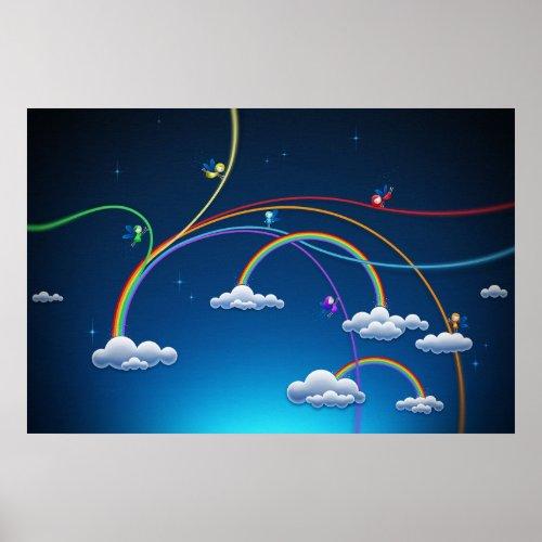 Rainbows print