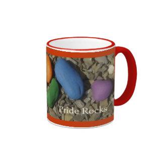 Rainbows:  Pride Rocks! Ringer Coffee Mug