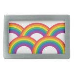 Rainbows Rectangular Belt Buckles