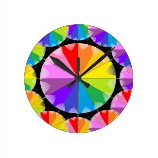 Rainbows Spectrum Color Wheel CricketDiane Round Clock