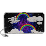 Rainbows, Stars and Clouds in a Night Sky Notebook Speakers